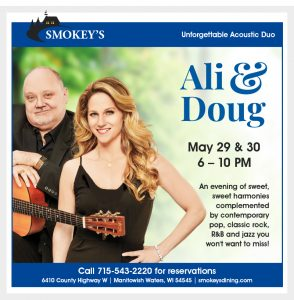 Ali & Doug: An Acoustic Duo @ Smokey's Fine Dining   Manitowish Waters   Wisconsin   United States