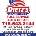 Dietz's Service ad